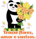 trouxe flores amor e sorrisos imagens recados e mensagens