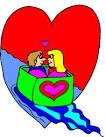 clipart barco do amor coracao figuras ilustracao imagens