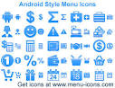 android style menu icons download