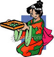 anime geisha royalty free clipart picture