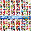 banderas del mundo mega pack tutoriales en la web