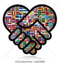 stock de ilustraciones de mundo banderas cooperacion mundo