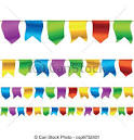 vector clip art de banderitas banderas seamless horizontally