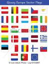 vector de brillante europa vector banderas thiss paquete