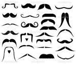 conjunto de bigotes vector stock pixxart