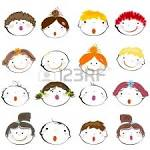 happy kids faces royalty free cliparts vectors and stock
