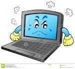 cartoon angry laptop royalty free stock photos image