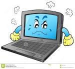 cartoon angry laptop royalty free stock photos image