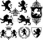 corona del leon ilustraciones vectoriales clip art vectorizado