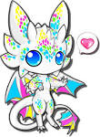 chibi cute white dragon by catsrock on deviantart clipart best