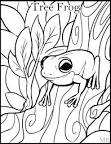coloringpage tree frog by magicbunnyart on deviantart clipart