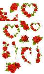 roses clipart by darkadathea on deviantart