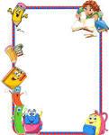 borders for kid diseno grafico caratulas utiles escolares