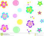 mezcla de flores de estrellas y de burbujas fotografia de