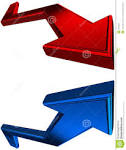 flechas rojas y azules d fotografia de archivo imagen