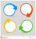 icono del sistema de color del vector con las flechas foto de