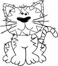 dibujos animados del gato sentado arte esquema clip descargar