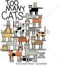 vector clip art de tambien muchos gatos ilustracion grande