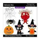 clip art digital clipart cat owl bird spider halloween clipart