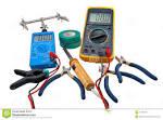 herramientas de los electricistas foto de archivo imagen