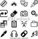 ilustraciones vectoriales de red informatica icono serie un
