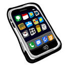 iphone painted icon png clipart image iconbug