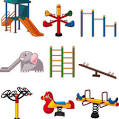 vector gratis de juegos de plaza infantiles