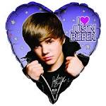 justin bieber heart shaped foil balloon birthdayexpress