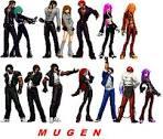 mugen kof characters by orochidarkkyo on deviantart