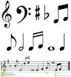 notas y simbolos de la musica imagenes de archivo imagen