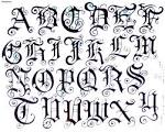 tatuaje letras goticas id