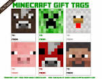 sweet nothings free printable minecraft gift tags