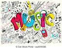 clipart vectorial de musica garabato ilustracion musica plano