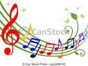 vectores de colorido musical notas musica tema bailando