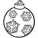 bola de navidad dibujo gratis para ninos