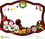 marco de la feliz navidad muchacha foto de archivo imagen