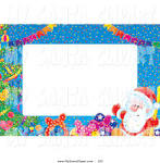 christmas clip art of a festive stationery border of banners