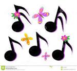 notas musicales mariposas y flores foto de archivo libre de