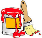 onlinelabels clip art paint can with brush
