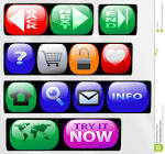 control panel button icons stock photos image