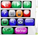 control panel button icons stock photos image
