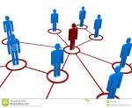 diagrama de la red o de las personas fotografia de archivo