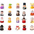 vector gratis de iconos de personas simples