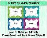 a turn to learn how to make an editable powerpoint and lock down