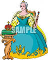 queen seated on her throne clip art royalty free clipart cliparts