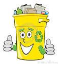 compartimiento de reciclaje de la historieta imagen de archivo