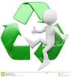 hombre d con el simbolo de reciclaje imagenes de archivo imagen