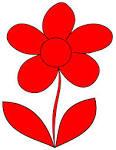 utt red flower clip art vector clip art online royalty free