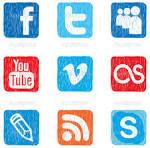 color del icono de los medios sociales vector stock kira