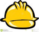 sombrero amarillo de la seguridad foto de archivo imagen